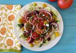 Cucumber and Tomato Summer Salad Recipe
