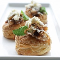Feta and Caramelized Onion Puffs