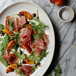Grilled Peaches with Prosciutto Recipe
