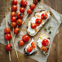 Grilled Tomato Skewers on Toast Recipe