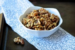 Honey Rosemary Roasted Walnuts