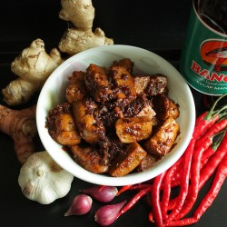 Indonesian Style Fried Tofu with Soy Sauce