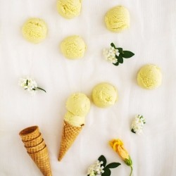 Kaffir Lime Mango Ice Cream Recipe