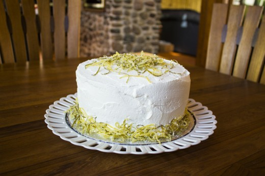 Lemon Line White Cake Recipe