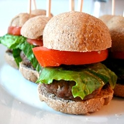Mini Burgers on Whole Wheat Hamburger Buns