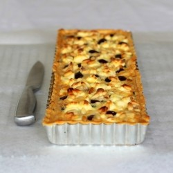 Olive Spinach and Pinenut Tart