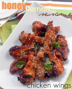 Oven Roasted Honey Lemon Sesame Chicken Wings Recipe