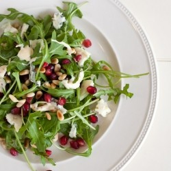 Pomegranate Roquefort Pinenuts Salad