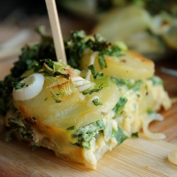 Potato Tortilla with Onions and Parsley Recipe