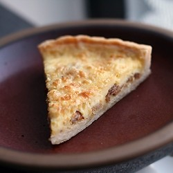 Quiche Lorraine with bacon gruyere and nutmeg