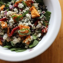 Quinoa Salad with Sweet Potato Black Beans and Gorgonzola Recipe