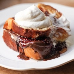 Raspberry Nutella Stuffed French Toast