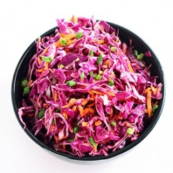 Red Cabbage Slaw with Asian Dressing Recipe
