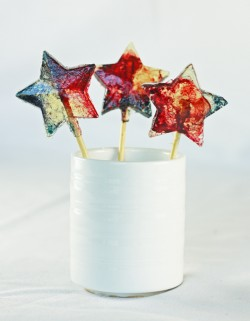 Red White and Blue Star Lollipops Recipe