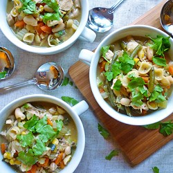 Roast Chicken and Vegetable Soup Recipe
