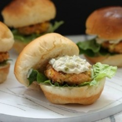 Salmon Corn Sliders Recipe