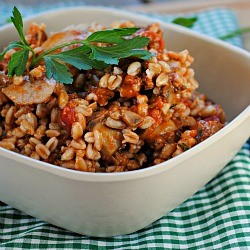 Sausage and Mushroom Ragout with Farro Recipe