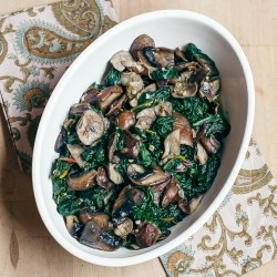 Sauteed Rainbow Chard and Shiitake Mushrooms Recipe