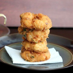Shrimp and Lentil Fritters