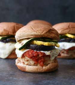 Skinny Chicken Parm Burgers Recipe
