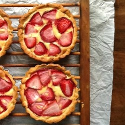 Strawberry Frangipane Tartlets