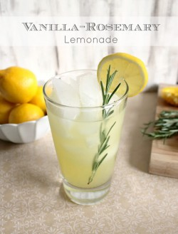 Vanilla Rosemary lemonade Recipe