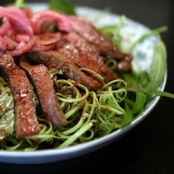 Vietnamese Steak and Water Spinach Salad