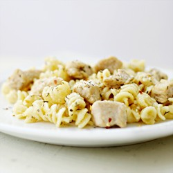 White Cheddar Pasta with Chicken and Herbs