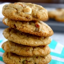 White Chocolate Pretzel Cookies Recipe
