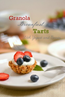 Yogurt Granola Breakfast Tartlets Recipe