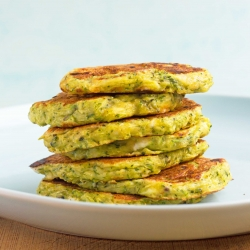 Zucchini Fritters with Goat Cheese