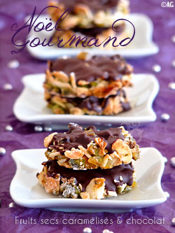 Almond Pistachio Walnut Candied Orange Dark Chocolate Bars