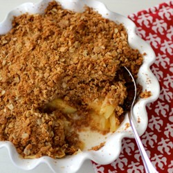 Apple Crisp with Oat Graham Cracker Brown Sugar Topping Recipe