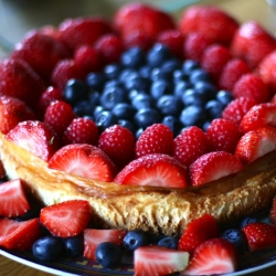 Baked Cheesecake with Summer Berries