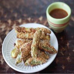 Baked Zucchini Fries with Chipotle Salsa