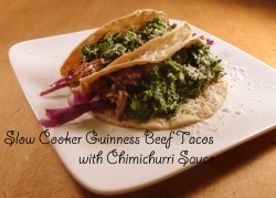 Beef Tacos with Chimichurri Recipe