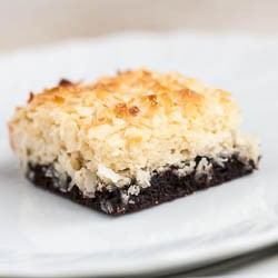 Black Bottom Coconut Bars Recipe