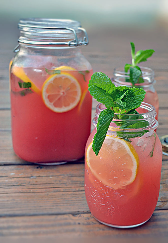 Boozy Watermelon Mint Lemonade Recipe