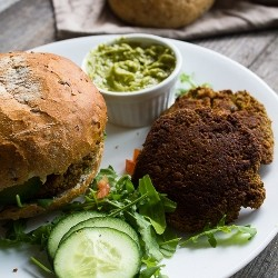 Broccoli Tofu Miso Burgers Recipe