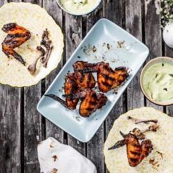 Buffalo Wings with Avocado Ranch Dip Recipe