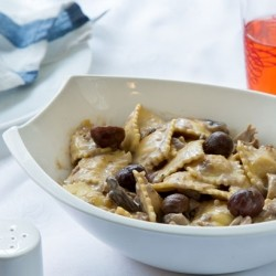 Cheese Ravioli with Chestnut Cream Mushrooms Recipe