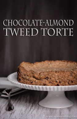 Chocolate Almond Tweed Torte