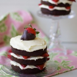 Chocolate Strawberry Cakes with Mascarpone Buttercream Recipe