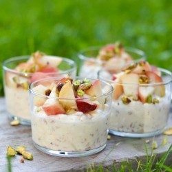 Cottage Cheese Spelt with Peaches Recipe