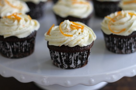 Dark Chocolate Cupcakes with Orange Buttercream Recipe