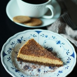 Gingersnap Pumpkin Cheesecake