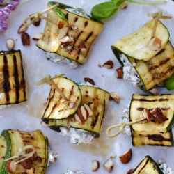 Grilled Zucchini Rolls with Spelt Recipe