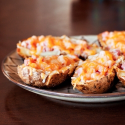 Ham Cheese Potato Skins Recipe