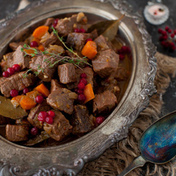 Hearty Beef Stew with Lingonberries Recipe