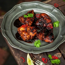 Honey Soy Glazed Ginger Chicken with Quinoa Salad Recipe